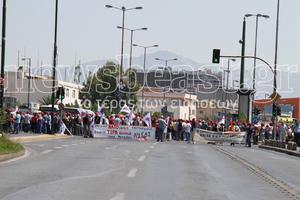 Συγκέντρωση διαμαρτυρίας έξω από το υπουργείο Άμυνας