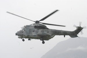 Με ελικόπτερο Σούπερ Πούμα διεκομίσθη στη Θεσσαλονίκη στέλεχος του Λιμενικού