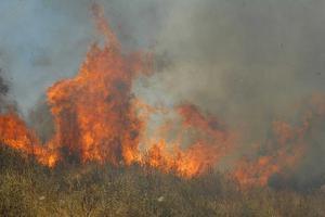 Η φωτιά απειλεί μοναστήρι στο Βαρνάβα