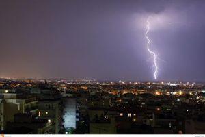Έντονα καιρικά φαινόμενα χθες στη Θεσσαλονίκη