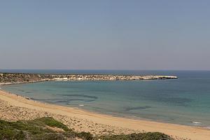 Πίσσα σε παραλία της Λέσβου