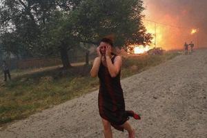 Μαίνεται η φωτιά στην Κάρυστο
