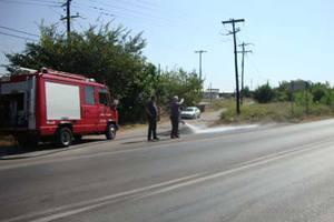 Φωτιά σε φορτηγό-ψυγείο στην Κοζάνη