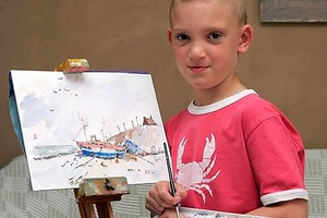 Νεαρός ζωγράφος «μαγνητίζει» με τα έργα του