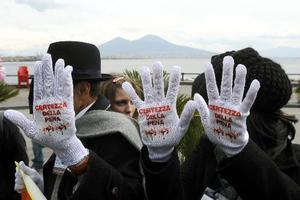 Διαδήλωση κατά της μαφίας