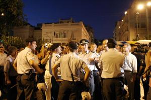 Διαμαρτυρία ένστολων κατά του Μνημονίου