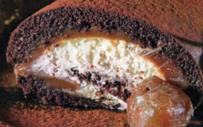 Κορμός σοκολάτας - κάστανου
