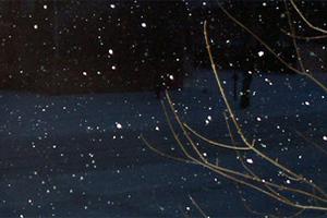 Χιόνι πέφτει στο νομό Τρικάλων