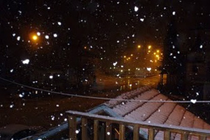 Σφοδρή χιονόπτωση στο νομό Τρικάλων