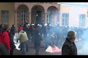 Φοιτητής τραυματίστηκε σε επεισόδια στη Μυτιλήνη