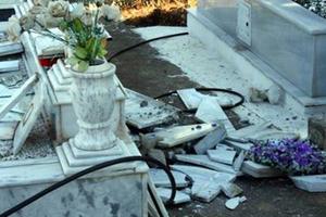 Πλιάτσικο στο νεκροταφείο της Ρόδου