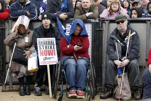 Πορεία κατά των μέτρων λιτότητας στο Λονδίνο