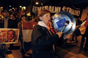 Αντικυβερνητική διαδήλωση στην Κροατία