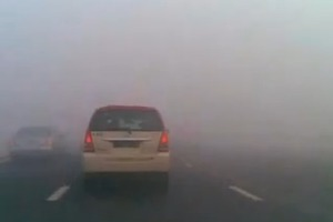 Περιορισμένη ορατότητα σε τμήματα της Εγνατίας λόγω ομίχλης