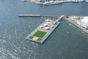 Τεράστια πλωτή πλατφόρμα πάει στη Φουκουσίμα