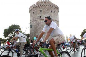 «Πλημμύρισε με ποδηλάτες το κέντρο της Θεσσαλονίκης»