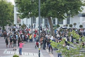 Οι «αγανακτισμένοι» στην πλατεία της Ξάνθης