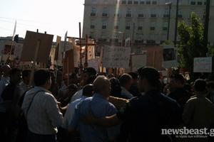 «Αγανακτισμένοι» Αιγύπτιοι διαμαρτύρονται στη Βασ. Σοφίας