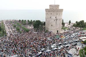 «Αγανακτισμένοι» και στη Θεσσαλονίκη
