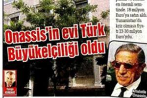 Το σπίτι του Ωνάση πέρασε σε «τουρκικά χέρια»