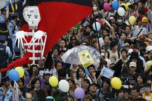 Παρών στις αντιπυρηνικές διαδηλώσεις ο Ιάπωνας πρωθυπουργός