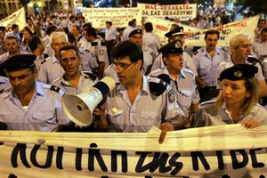 Συγκέντρωση διαμαρτυρίας ένστολων στη Λάρισα