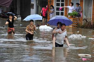 Σφοδρές βροχοπτώσεις πλήττουν την επαρχία Χουνάν στην Κίνα