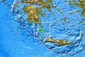 Σεισμός 3,4  Ρίχτερ στα Κύθηρα
