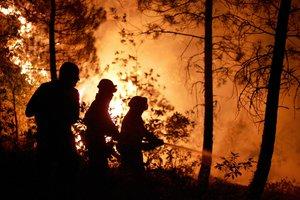 Μαίνεται ανεξέλεγκτη η φωτιά στο Άγιο Όρος