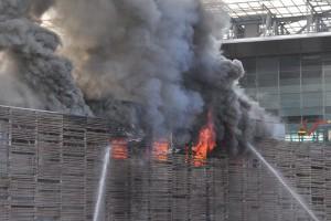 Φωτιά σε σταθμό τρένων της Ρώμης