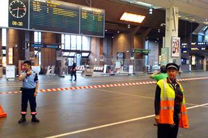 Αποκλεισμένη ζώνη γύρω από το σταθμό στο Όσλο