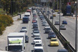 Κυκλοφοριακή συμφόρηση στη λεωφόρο Κηφισού λόγω τροχαίων