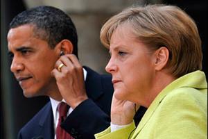 Τηλεφωνική επικοινωνία Ομπάμα - Μέρκελ