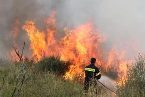 Υπό μερικό έλεγχο τέθηκαν τρεις φωτιές