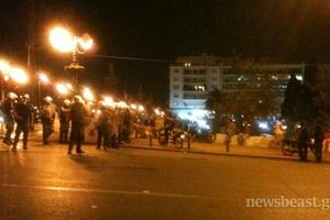 Άναρχη η κατάσταση στην πλατεία Συντάγματος