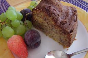 Κέικ φρούτων χωρίς ζάχαρη