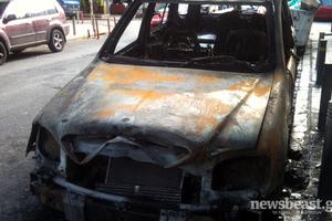 «Παρανάλωμα» αυτοκίνητο στο Σχιστό Κορυδαλλού