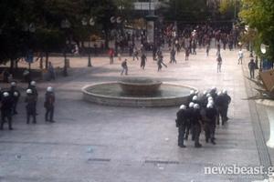 Σκηνικό πολέμου στο κέντρο της Αθήνας