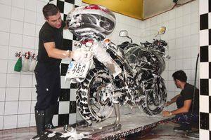 Πλύσιμο μοτοσικλέτας
