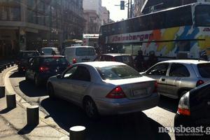 Κυκλοφοριακό «έμφραγμα» στο κέντρο της Αθήνας