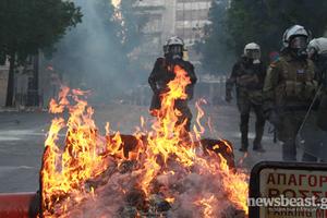 Φωτογραφίες από το χθεσινό χάος στην Αθήνα