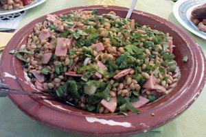 Σαλάτα με σιτάρι, ρόκα και ντομάτες