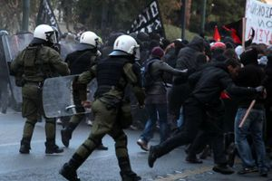 Ένταση στην πορεία της Θεσσαλονίκης