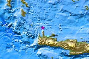 Σεισμική δόνηση μεταξύ Κρήτης και Κυθήρων