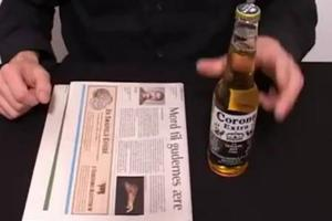 Πώς να ανοίξεις μπουκάλι με μια... εφημερίδα