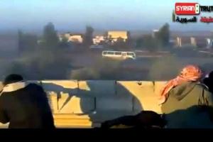 Επίθεση ανταρτών σε αυτοκινητοπομπή στη Συρία