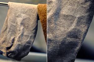 Είδε το πρόσωπο του Ιησού στην κάλτσα της