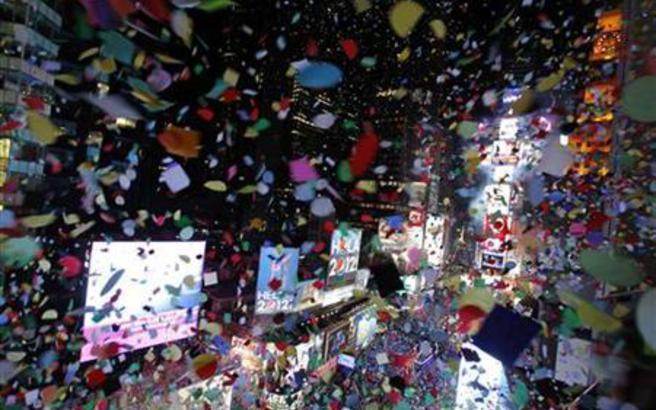 Το βίντεο - ανασκόπηση που προβλήθηκε στην Times Square