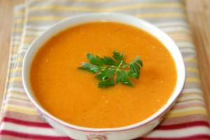 Φακές σούπα με καρότα