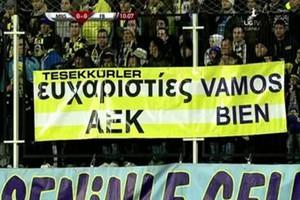 Τουρκικό «ευχαριστώ» στην ΑΕΚ